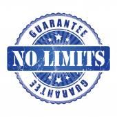 No Limits Guarantee Stamp. — Stock Vector