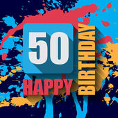 50  Happy Birthday background — Stock Vector