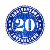 20 Years anniversary stamp. — Stock Vector