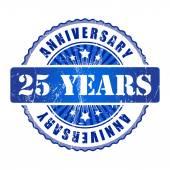 юбилейная марка 25 лет. — Cтоковый вектор
