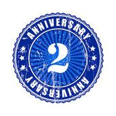 2 Years anniversary stamp. — Stock Vector