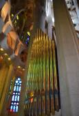 Interior of Sagrada Familia in Barcelona — Stock Photo