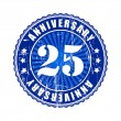 25 Years anniversary stamp. — Vector de stock  #63940137