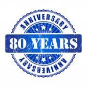 80 Years anniversary stamp. — Stock Vector