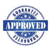 Approved Guarantee Stamp. — Stock Vector