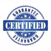 Certified Guarantee Stamp. — Stock Vector