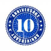 10 Years anniversary stamp — Stock Vector
