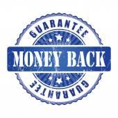 Money Back Guarantee Stamp. — Stock Vector