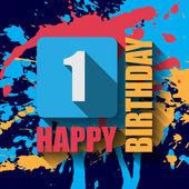 1 Happy Birthday background — Stockvektor