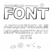 Font drawn on the tablet pen. — Vetor de Stock