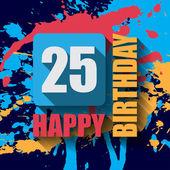 25 Happy Birthday background — Vettoriale Stock