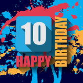 10 Happy Birthday background — Stockvektor