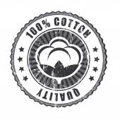 100 percent Quality Cotton label — Stock Vector
