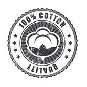 100 percent Quality Cotton label — Vector de stock