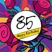 Fond de joyeux anniversaire 85 — Vecteur