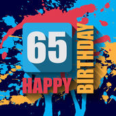 65 Happy Birthday background — Stock Vector
