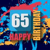 65 Happy Birthday background — Stockvektor
