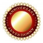 Empty anniversary golden label. — Stock Vector #66627297