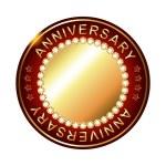 Empty anniversary golden label. — Stock Vector #66627471