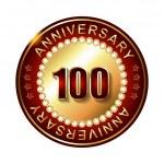 100 Years anniversary  label. — Stock Vector #66627555