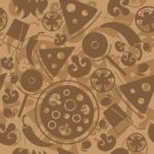 Seamless Pizza pattern. — Stock Vector