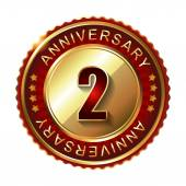 2  Years anniversary label — Stock Vector