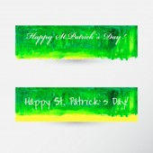St. Patricks Day Banners — Stock Vector
