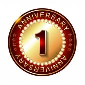 1 Years anniversary label — Stock Vector