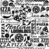 Pizza seamless pattern — Stock Vector