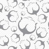 Patrón transparente de algodón. — Vector de stock
