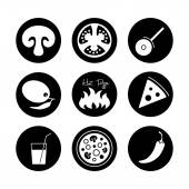 Icons set for Italian pizza. — Stock Vector
