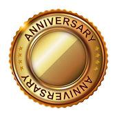 Empty anniversary golden label. — Stock Vector