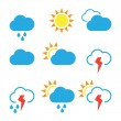 Weather widgets template icons — Stock Vector #69117999