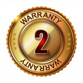 2 years warranty golden label — Vettoriale Stock