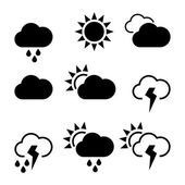 Weather widgets template icons — Stock Vector