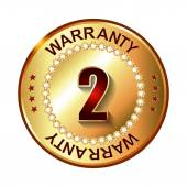 2 years warranty golden label — Vector de stock