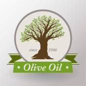 Olive oil label — Stock Vector