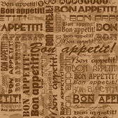 "Nahtlose Muster ""Bon Appetit — Stockvektor"