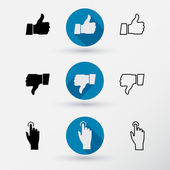 Thumb up and Thumb down icon — 图库矢量图片
