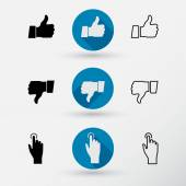 Thumb up and Thumb down icon — Stock Vector