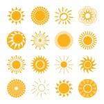 Sun icons set — Stock Vector #72056093