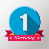 1 Warranty label design — Stock Vector