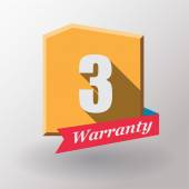 3 Warranty label design — Stock Vector