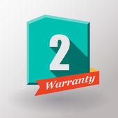 2 Warranty label design — Stock Vector