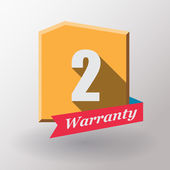 2 Warranty label design — Stock Vector