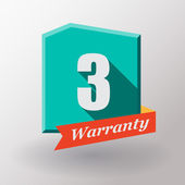 3 Warranty label design — Stock Vector