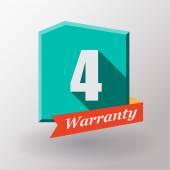4 Warranty label design — Stock Vector