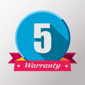 5 Warranty label design — Stock Vector
