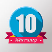 10 Warranty label design — Stock Vector