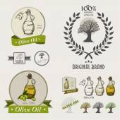 Olive oil bottles Set — Stock Vector